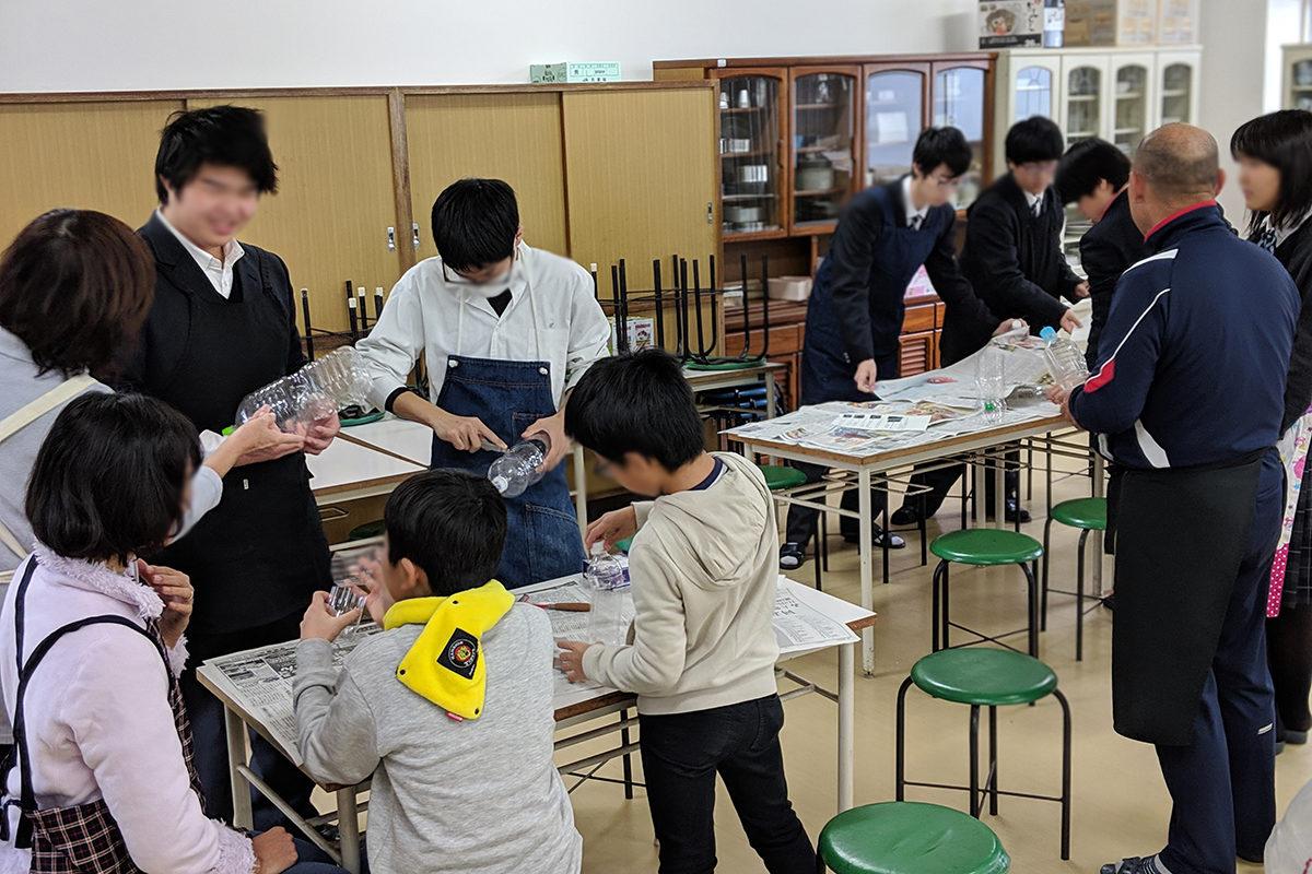 大江高校防災キャンプに講師として参加しました。