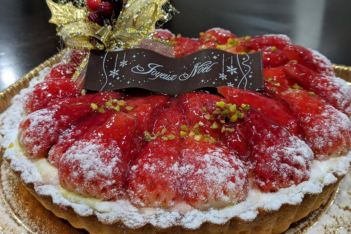 クリスマス恒例 アルルさんのイチゴのタルト