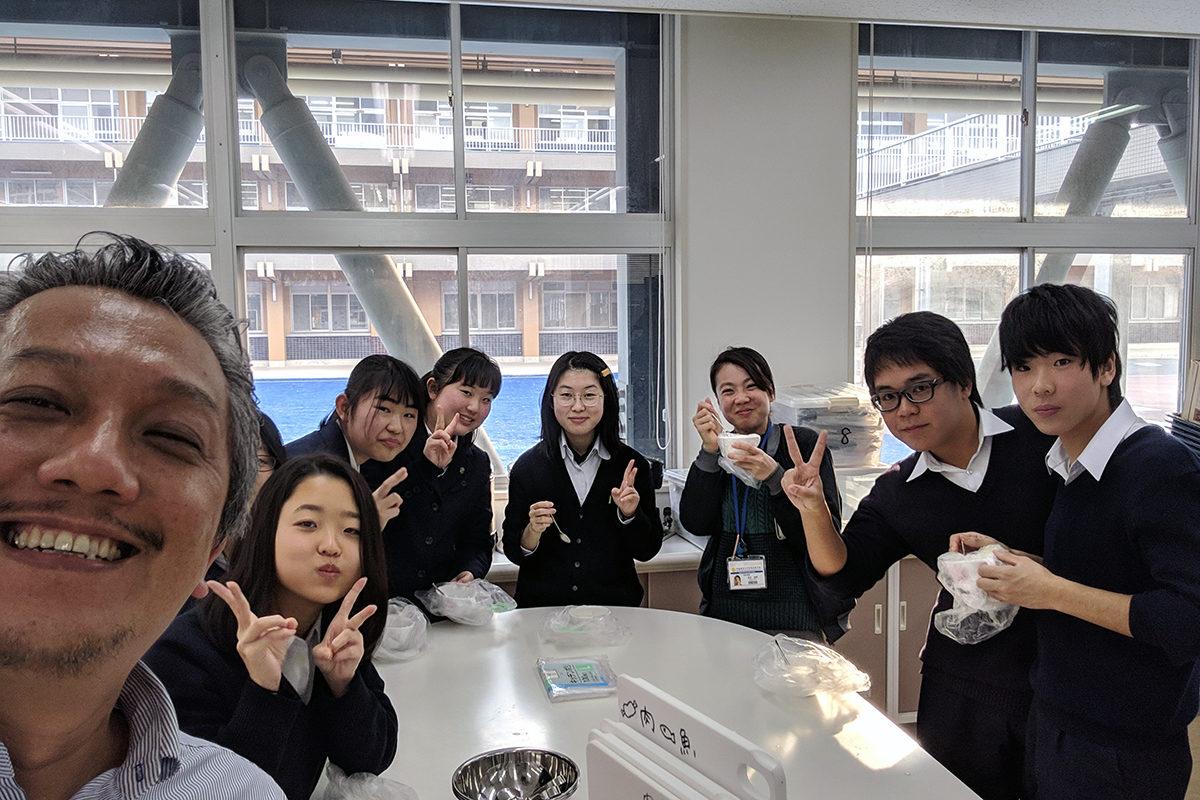 高校の課外授業で防災教室開催しました。