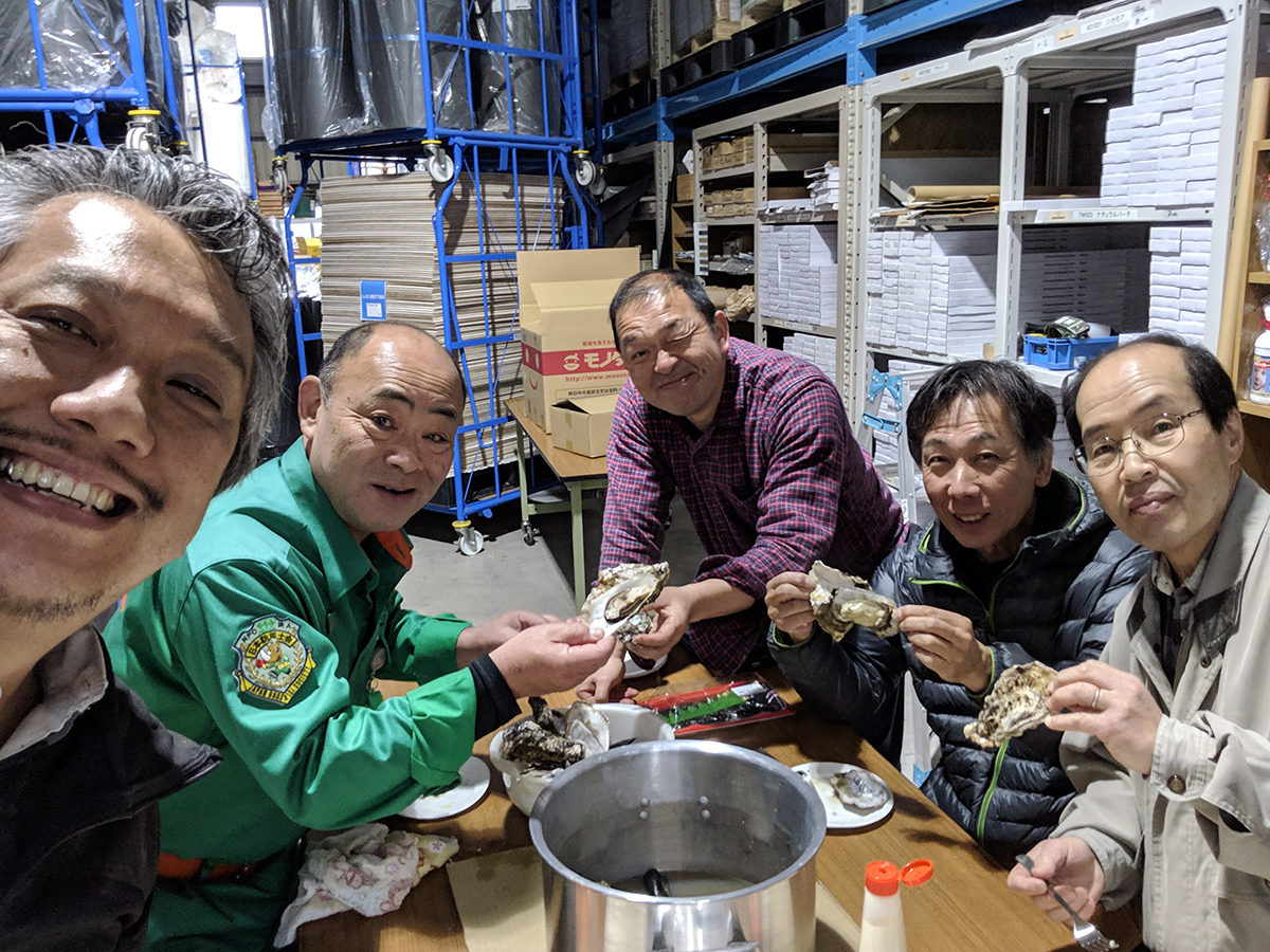 ムール貝が食べれる防災教室