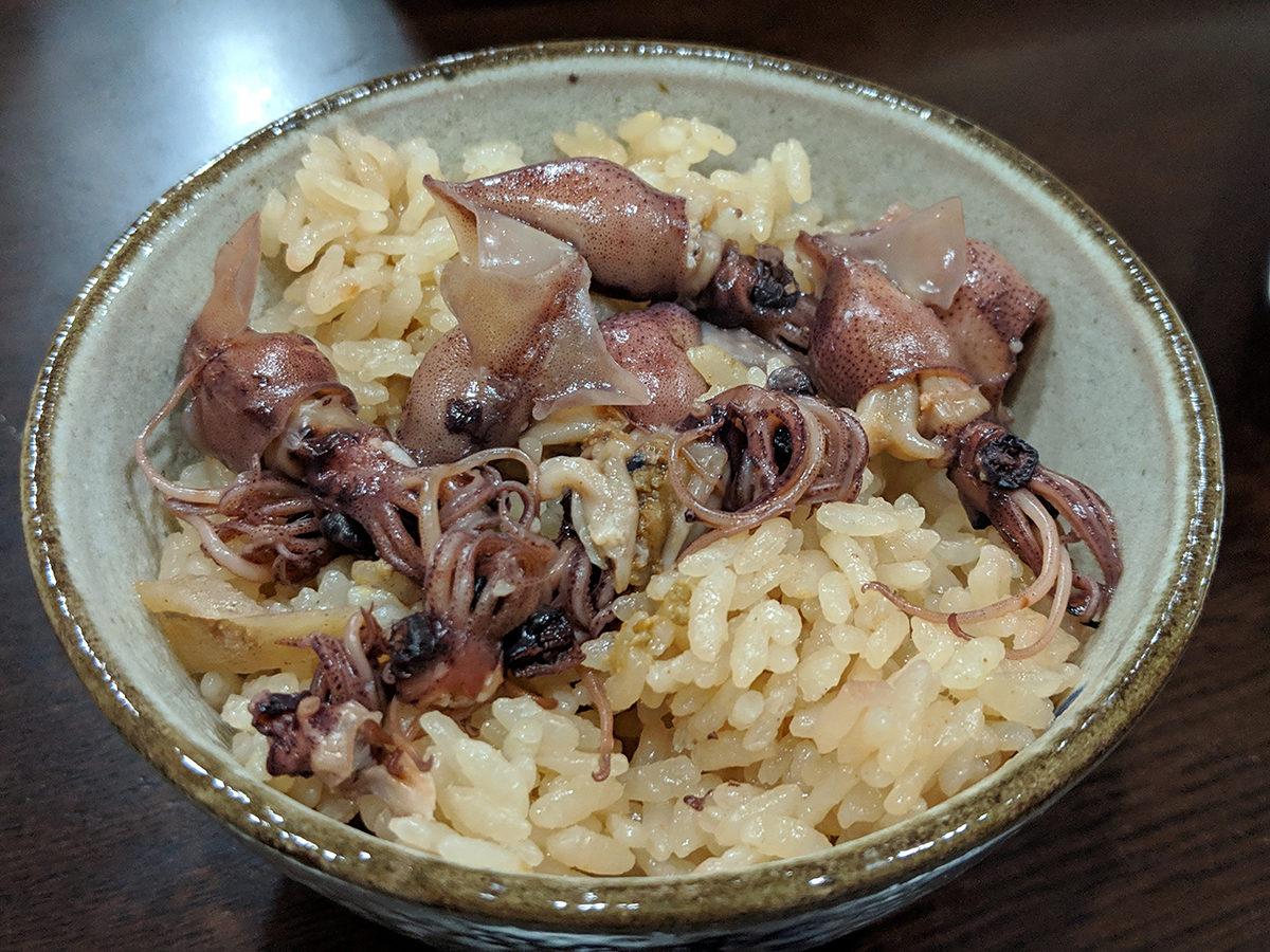 春の逸品 ホタルイカの炊き込み御飯