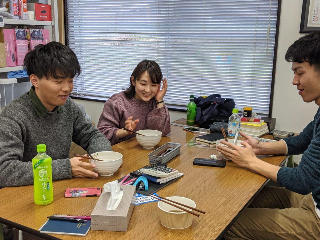 京都府立大学からインターンシップに参加した学生3名