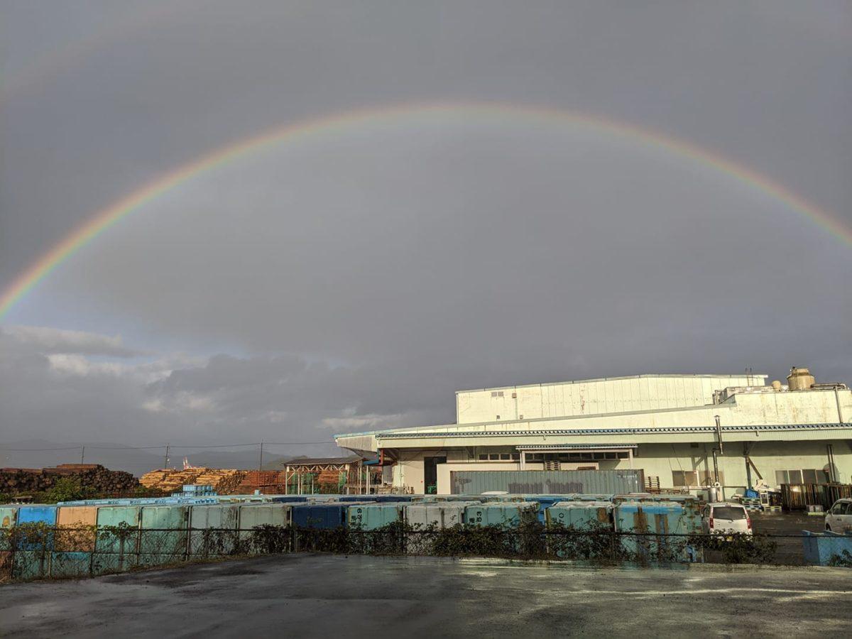 巨大な虹を発見